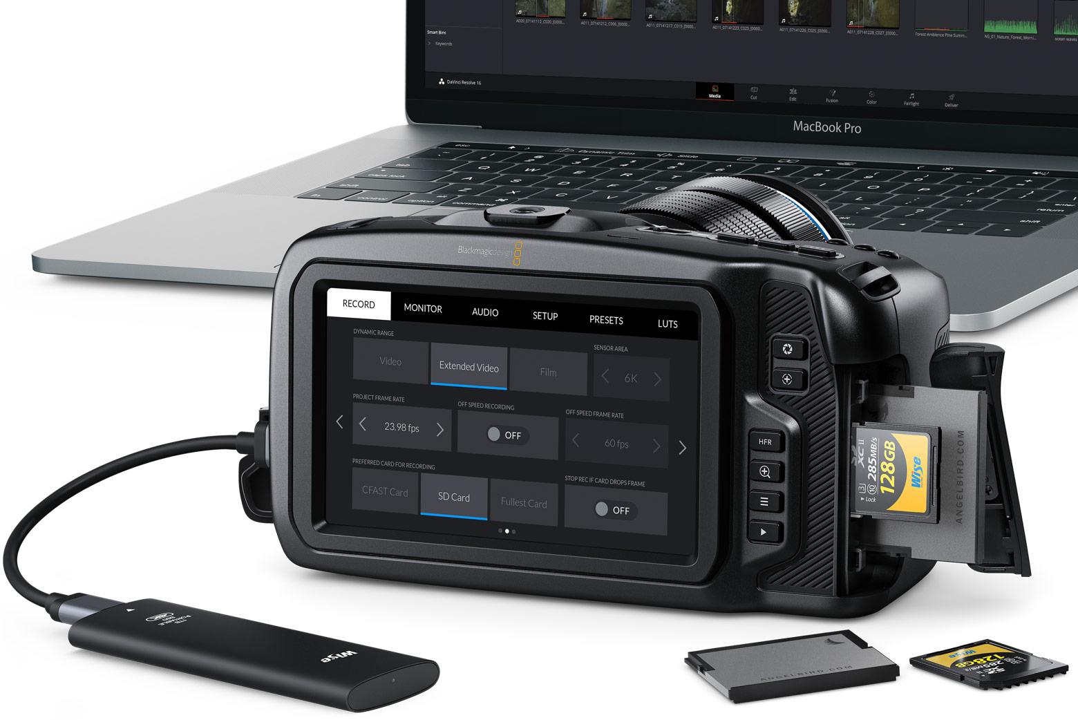 Blackmagic Pocket Cinema Camera 6K karty pamięci