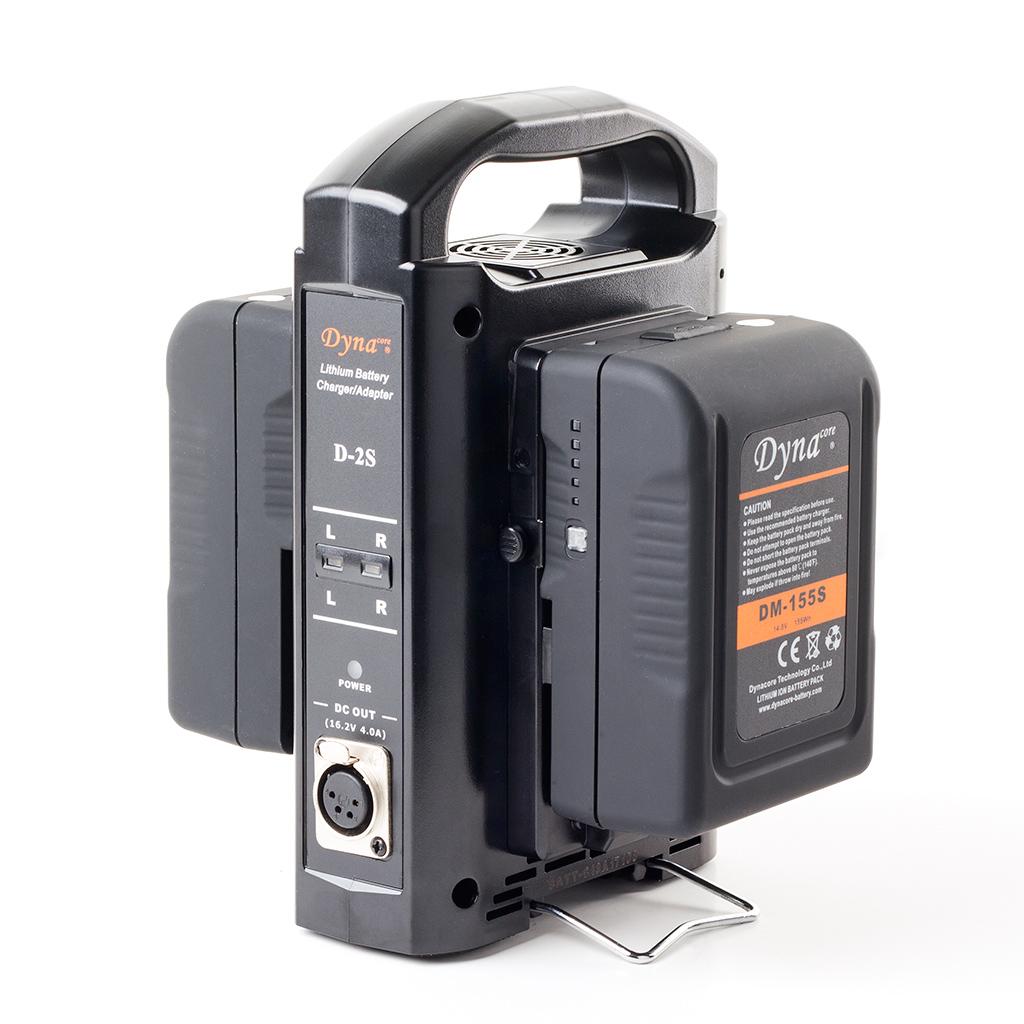 Dynacore D-2S - dwustanowiskowa, dwukanałowa szybka ładowarka akumulatorów V-mount / V-lock