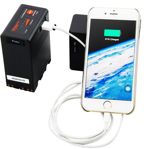 Dynacore DS-U77B - akumulator li-ion 77Wh typu Sony BP-U z gniazdem USB 5V do zasilania akcesoriów