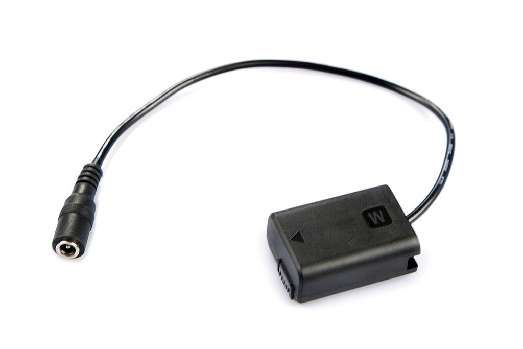 LanParte FW-50P - adapter akumulatora NP-FW50 aparatów Sony serii A7 dla zasilania zewnętrznego