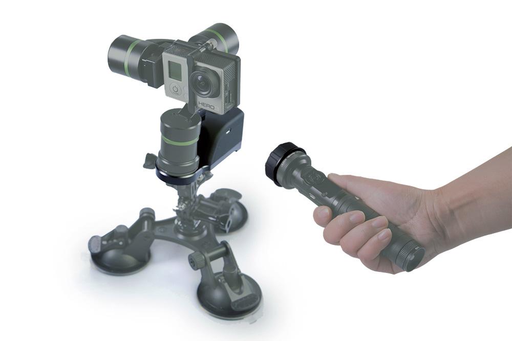 gimbal LanParte LA3D do GoPro z adapterem zdalnego bezprzewodowego sterowania