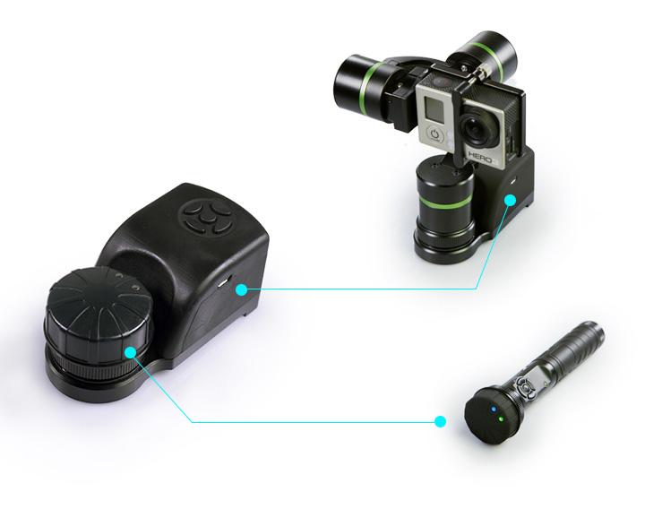 LanParte GWCK-01 - adapter zdalnego bezprzewodowego sterowania gimbalami LA3D i LA3D-S składający się z nadajnika oraz odbiornika Bluetooth