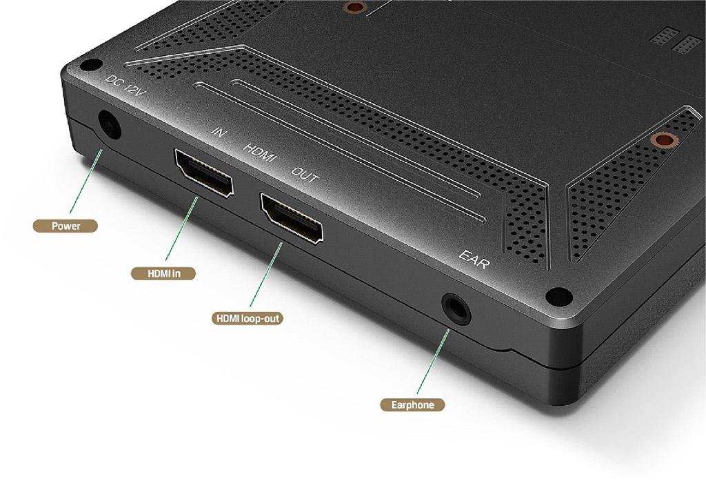 Lilliput A7 - monitor podglądowy z wejściem i wyjściem HDMI, gniazdkiem stereo jack 3.5mm
