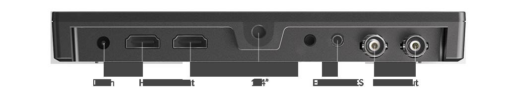 Lilliput Q7 - złącza sygnału HDMI i SDI