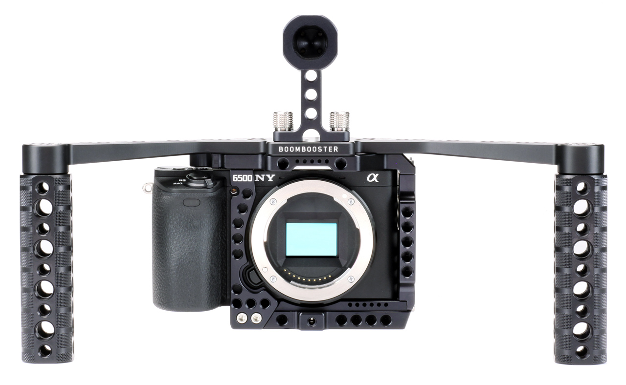 LockCircle 6500NY KIT - klatka dla aparatu Sony A6500/A6300 z uchwytami BOOMBOOSTER