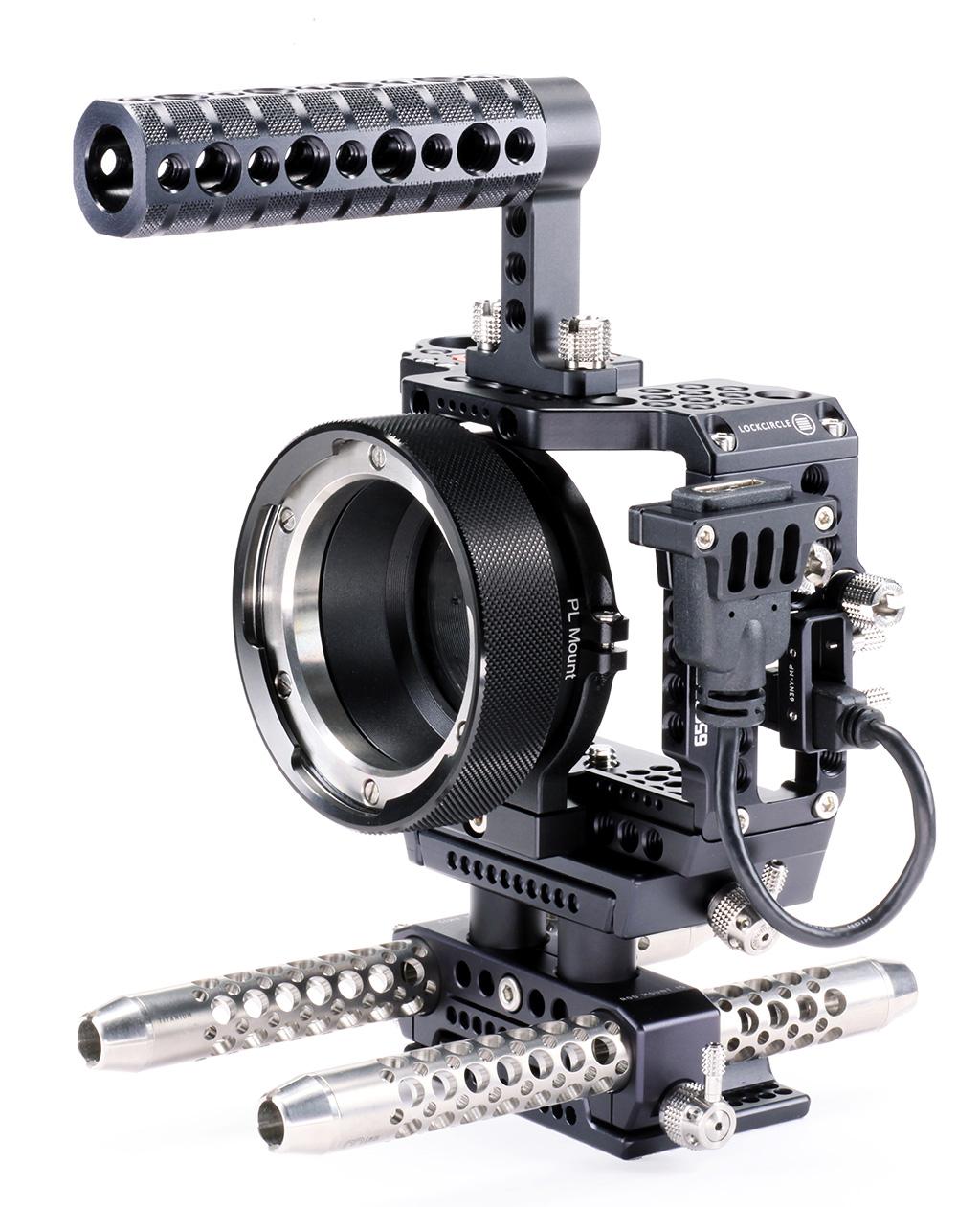 LockCircle 6500NY KIT - klatka Sony A6500/A6300 z podpórką adapterów bagnetowych
