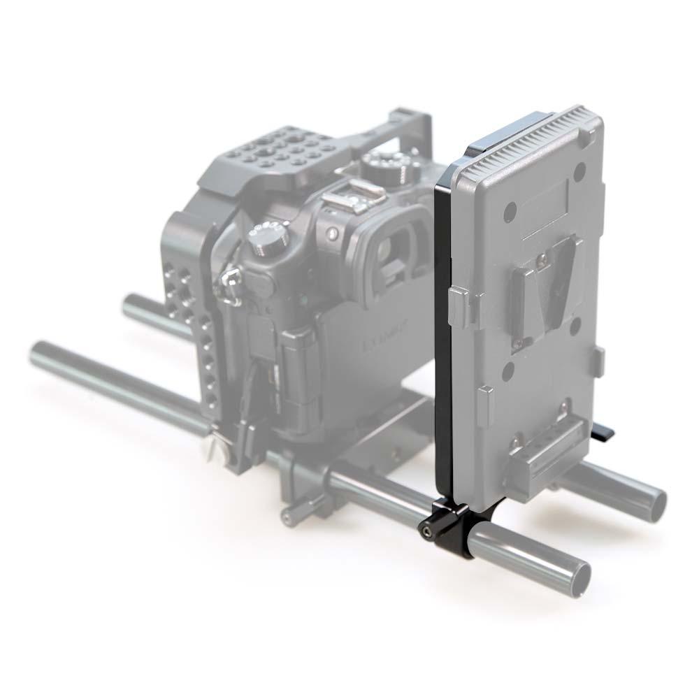 SmallRig 1547 Battery Back - mocowanie płytek /adapterów akumulatorów V-lock i Anton/Bauer do wałków ᴓ15mm