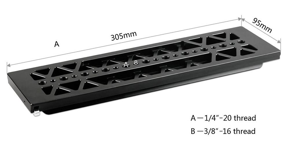 """SmallRig 1463 Dovetail 12"""" - łyżwa w standardzie ARRI o długości 30,5 cm"""