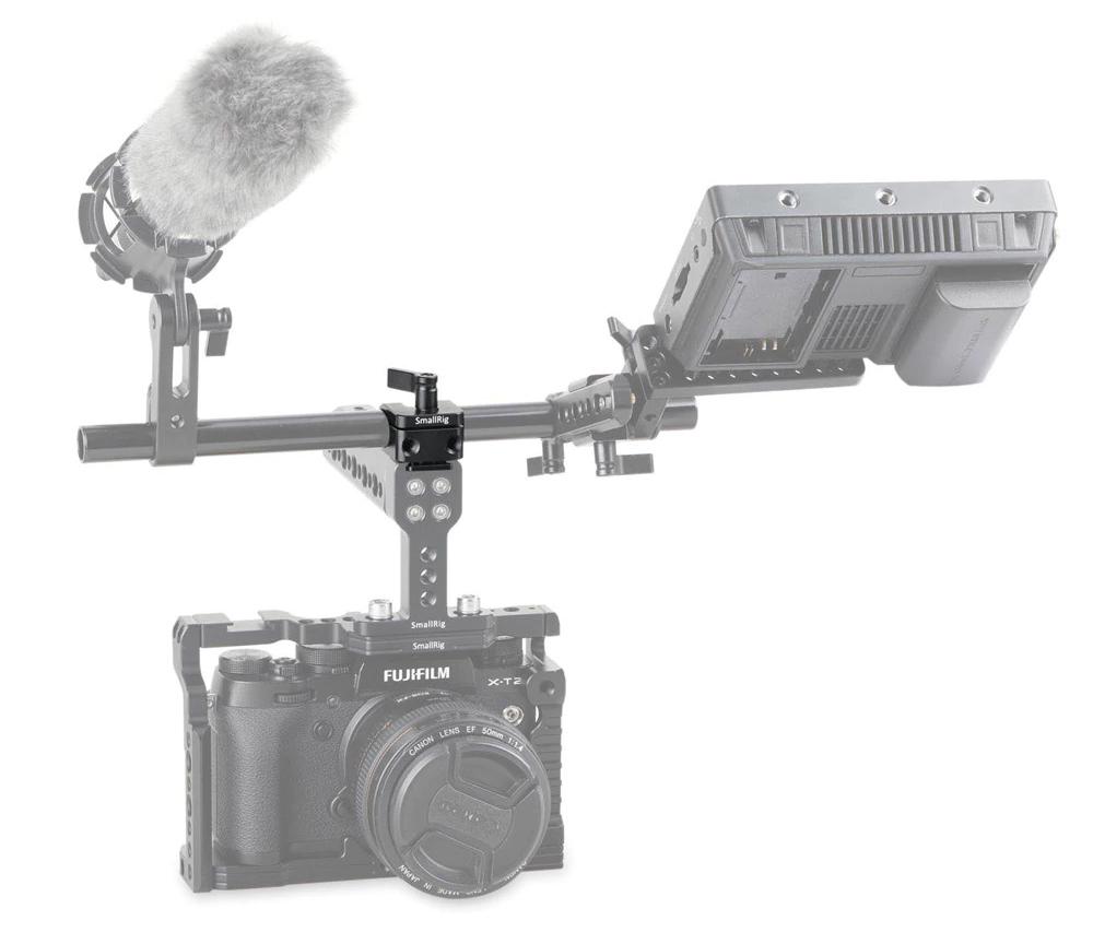 SmallRig 1597 15mm Rod Clamp Cold Shoe Mount - mocowanie rurki na zimną stopkę do aparatu lub kamery