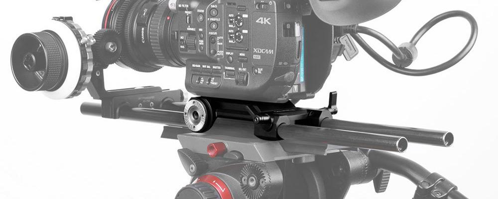 SmallRig 1827 Sony FS5 Camcorder Baseplate to lekki baseplate z rod supportem LWS 15mm i rozetkami ARRI.