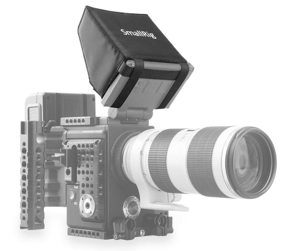 """SmallRig 1845 RED 4.7"""" LCD Monitor Sunhood - osłona przeciwsłoneczna do monitora podlgądowego kamery"""