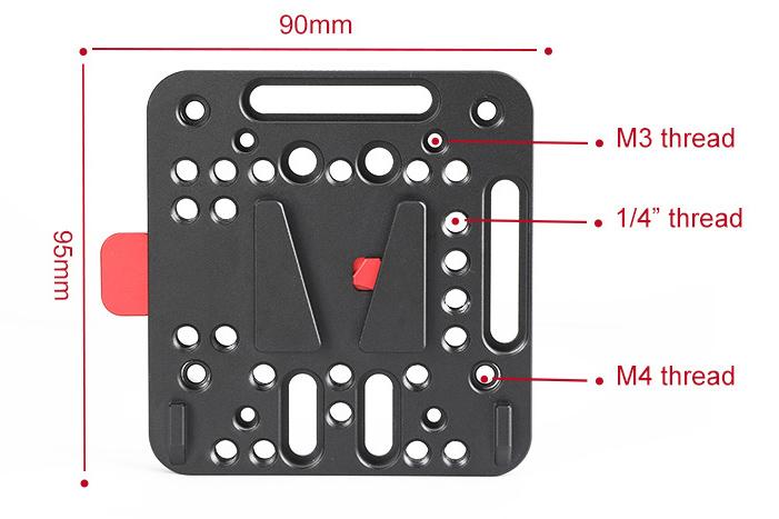 SmallRig 1846 V-lock Assembly Kit - mocowanie akumulatorów V-mount do kamer i akcesoriów.