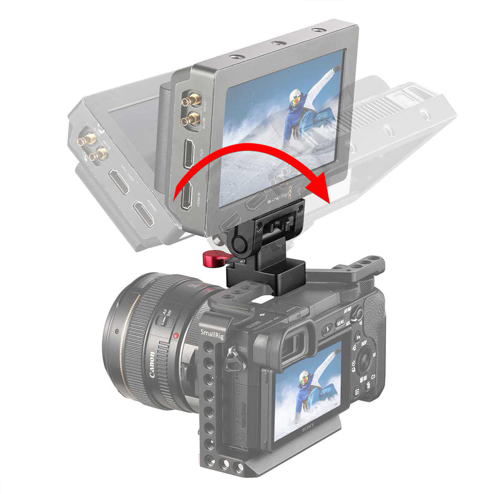 SmallRig 2100 Monitor Holder NATO Clamp - regulowane mocowanie monitora, rekordera, lupy EVF z szybkozłączką