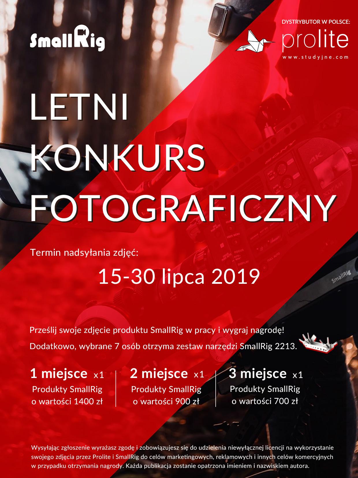 Letni Konkurs Fotograficzny na najlepsze zdjęcie wyposażenia marki SmallRig podczas pracy!