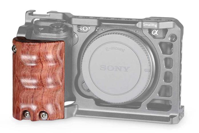 SmallRig 1970 Wooden Grip - drewniany uchwyt do aparatu Sony A6500, A6300 i A6000.