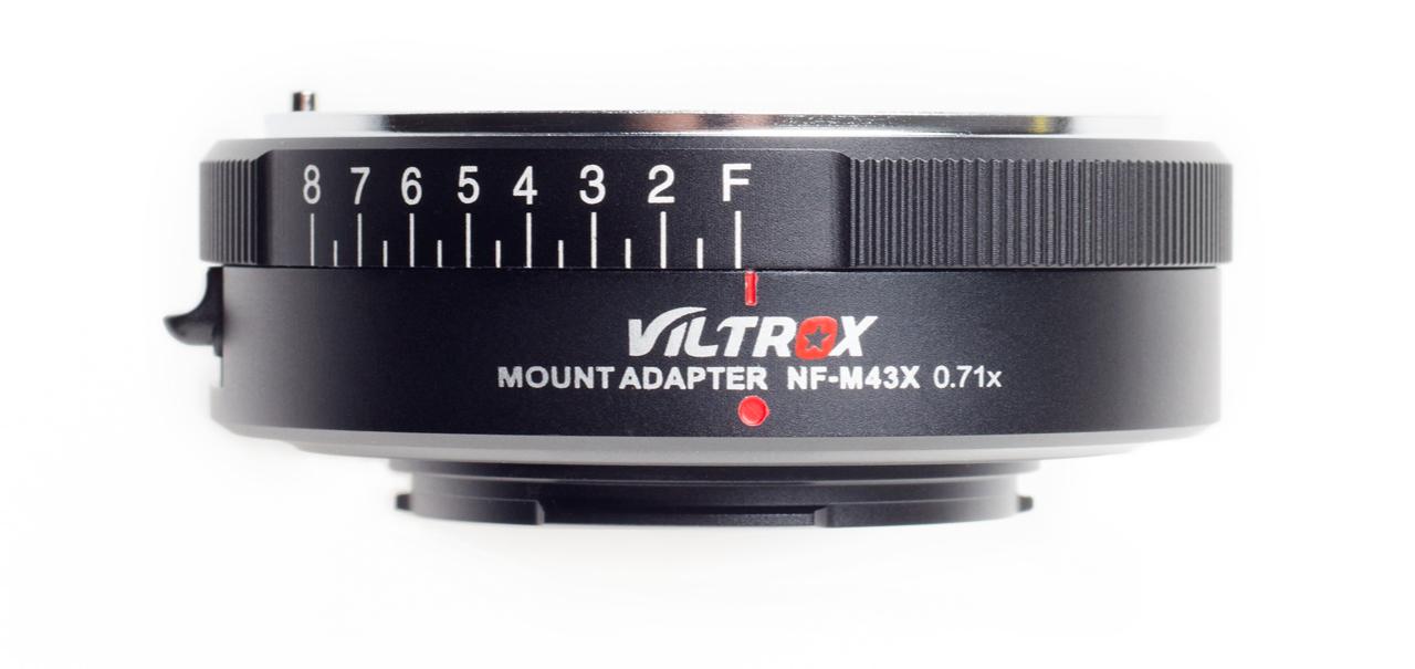"""Viltrox NF-M43X - adapter Nikon F do MFT ze """"Speed Booster"""", pierścień regulacji przysłony"""