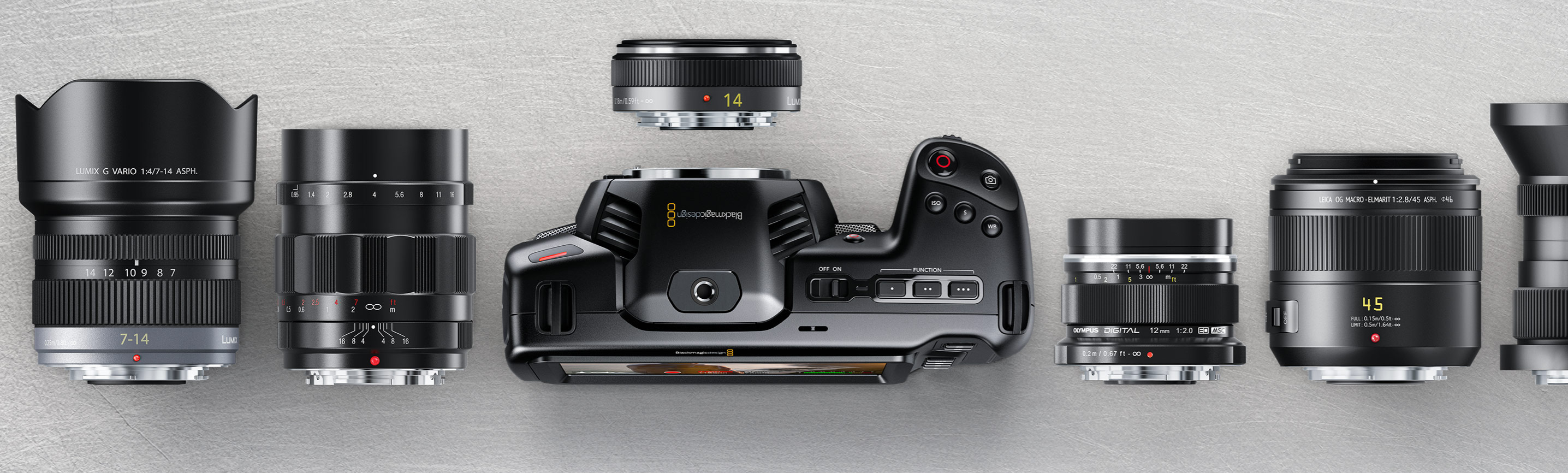 Blackmagic Pocket Cinema Camera 4K obiektywy
