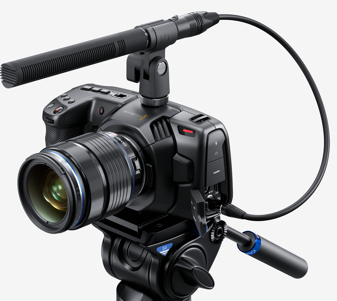 Blackmagic Pocket Cinema Camera 4K audio