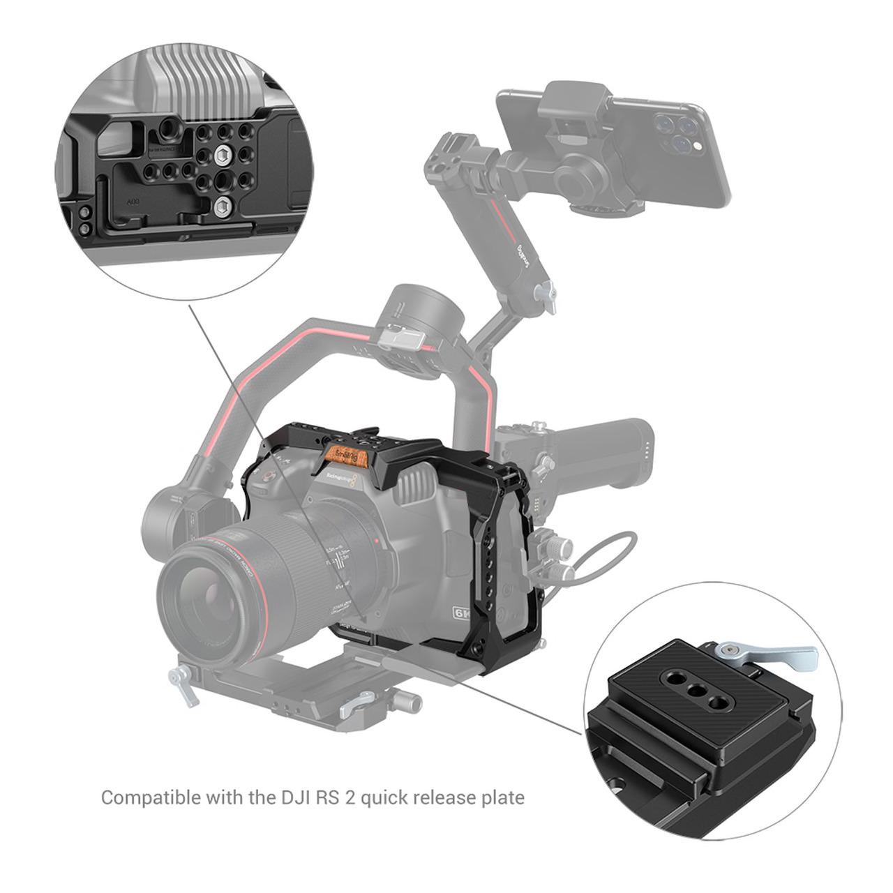 Smallrig 3270 full cage dla bmpcc 6K Pro - compatibility