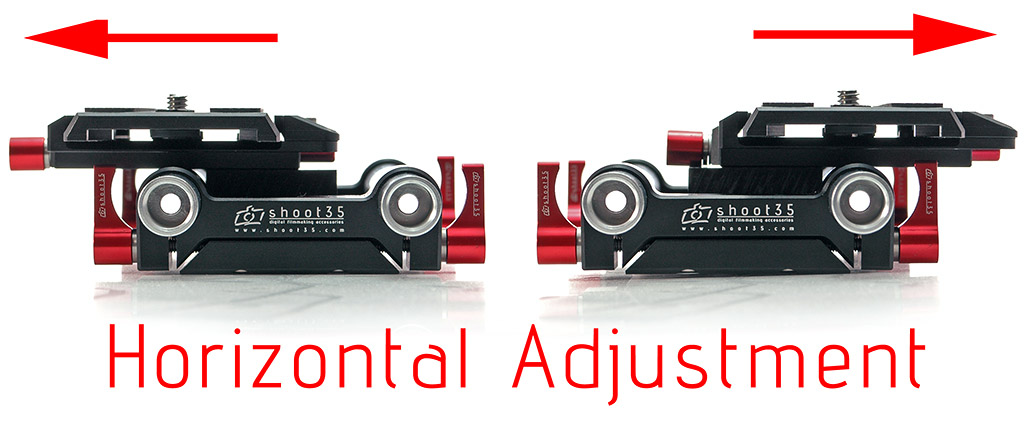 Shoot35 CINEplate Pro- uniwersalny baseplate z możliwością zmiany położenia kamery/aparatu o 28mm w lewo i prawo
