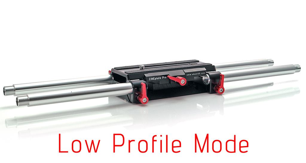 Shoot35 CINEplate Pro - uniwersalny baseplate dla aparatów dslr i kamer z regulowana wysokością- niski profil