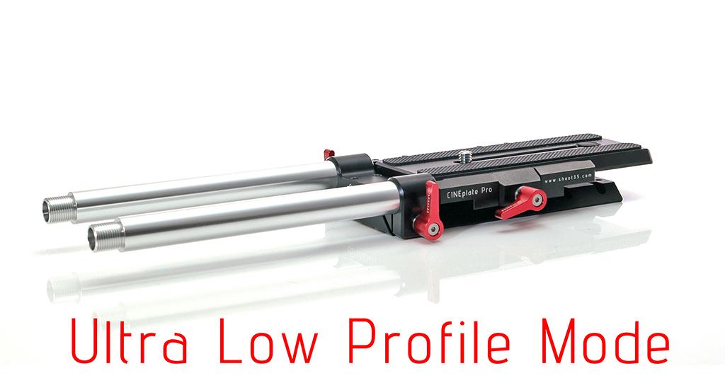 Shoot35 CINEplate Pro - uniwersalny baseplate dla aparatów dslr i kamer z możliwością regulowaniu wysokości