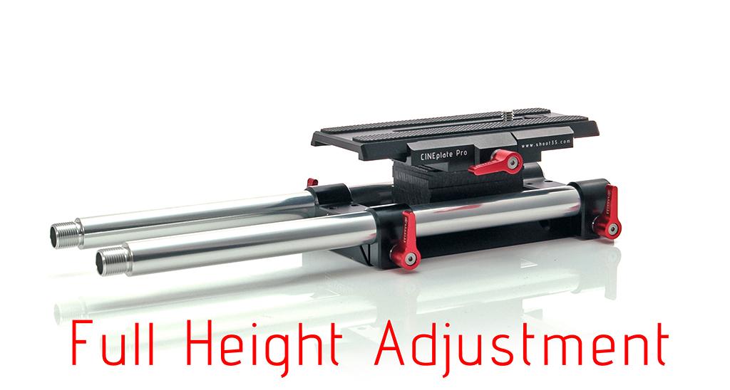 Shoot35 CINEplate Pro - baseplate dla aparatów dslr i kamer z regulowaną wysokością - maksymalna wysokość